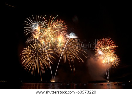 fireworks celebration festival in the sky form Thailand - stock photo