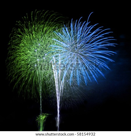 fireworks celebration festival 2018  in the sky form Thailand.Fireworks, raw material for designers to decorate,