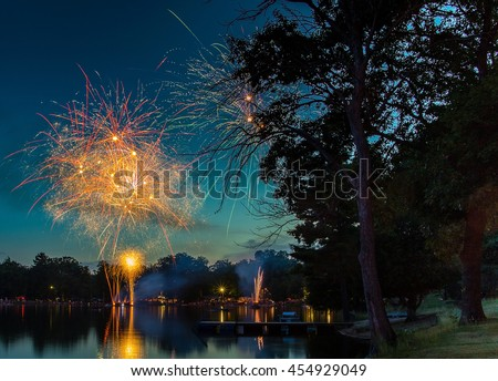 Fireworks Celebration in Northern Michigan