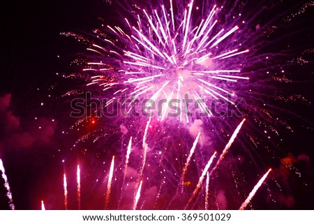 Fireworks colorful backgrounds - stock photo