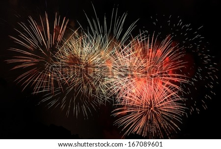 Fireworks Display Brightly and colorful