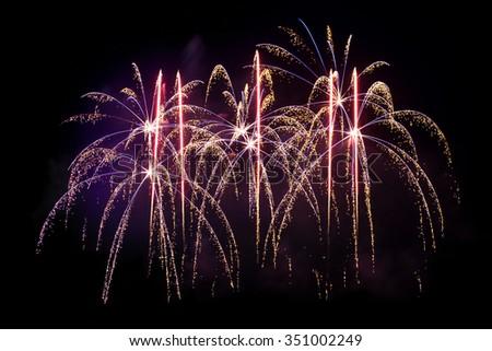 Fireworks display celebration - stock photo