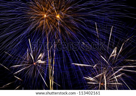Fireworks display during the New Year's celebration