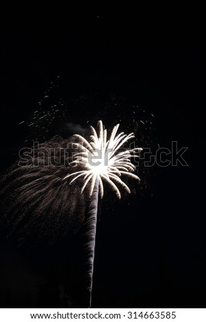 Fireworks Display for celebration of New Years Eve, Independence Day, and special events - stock photo