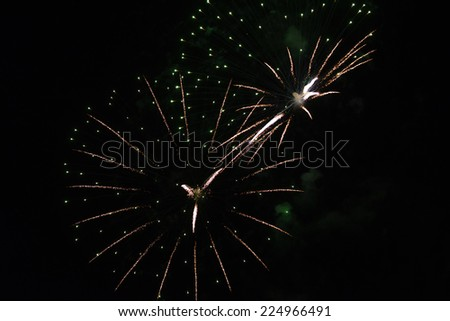 Fireworks Display on a celebration as a Clock - stock photo
