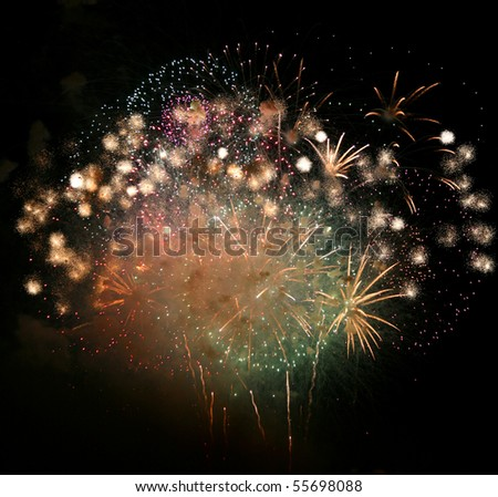 Fireworks Finale - stock photo