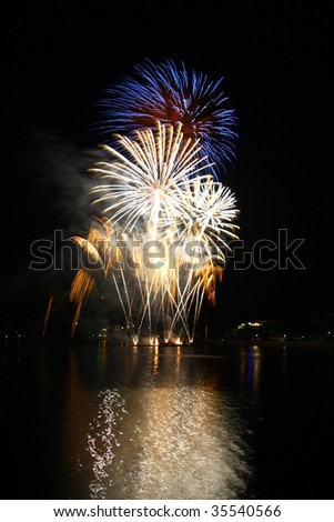 Fireworks Ignis Brunensis - stock photo