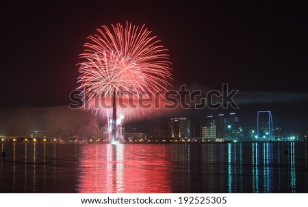 fireworks in Baku