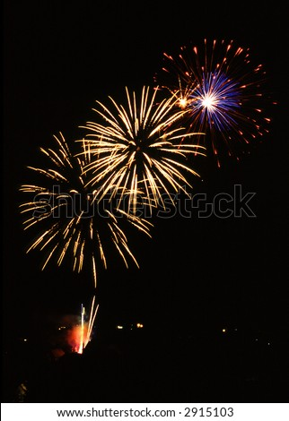 Fireworks in France - Wissembourg - Alsace