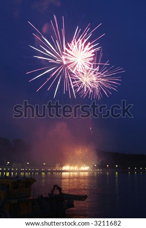 Fireworks in Moscow 14 - stock photo