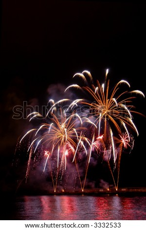Fireworks in the Mdeira Island - stock photo