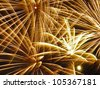 Fireworks in the sky at night - stock photo