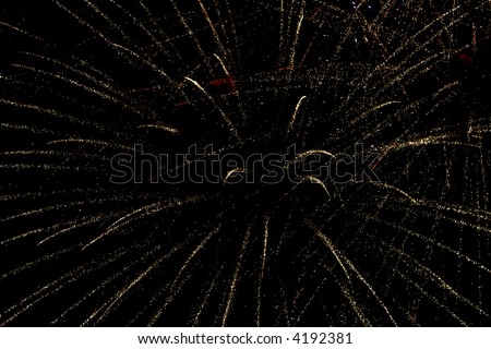 fireworks on dark sky background