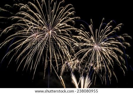 Fireworks show - stock photo