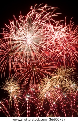 Fireworks Symphony - burst of fireworks in the sky at night