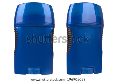 Firm deodorant for body isolated on white background - stock photo