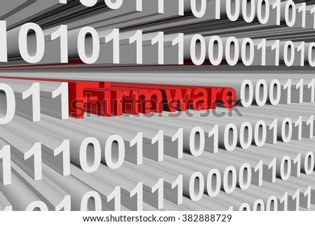 Firmware presented in the form of binary code
