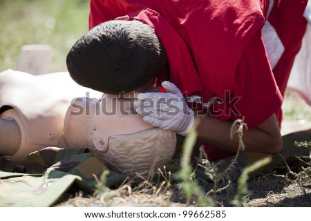 First aid - stock photo