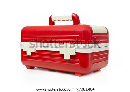 First aid box on a white background