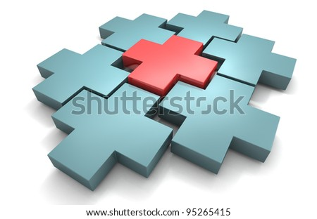 first aid cross - stock photo