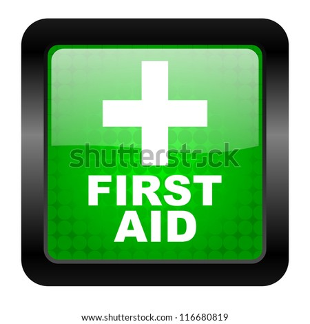 first aid icon - stock photo