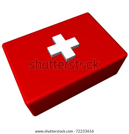 First aid isolated on white background