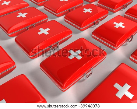 First aid kit - background - stock photo