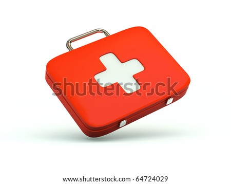 First aid kit icon. Red series