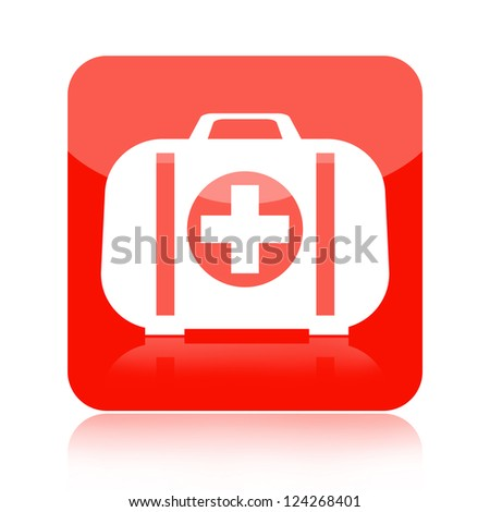 First aid kit medical icon - stock photo