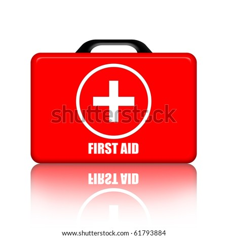 First Aid Medical Kit - stock photo