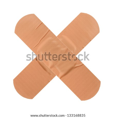 First-aid plaster - stock photo