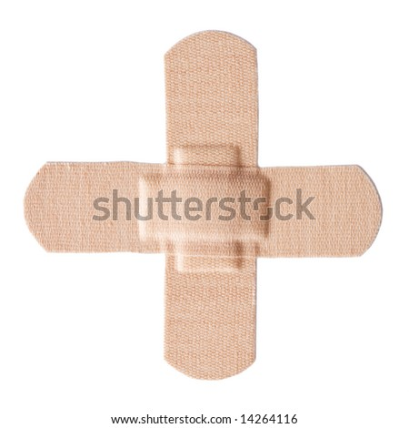 First-aid Plaster isolated [clipping path included] - stock photo