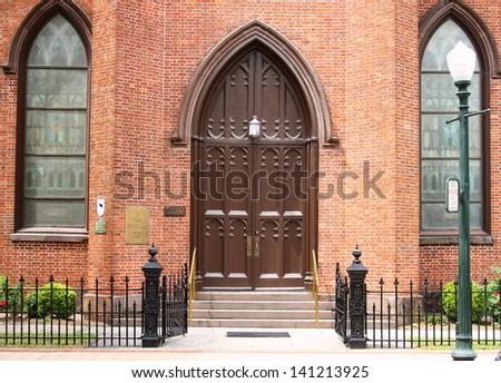 First Baptist Church - stock photo