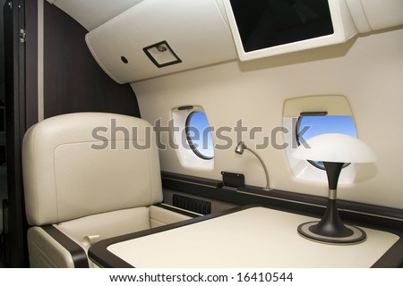 First Class (airplane) - stock photo
