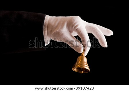 First Class Service on black background - stock photo