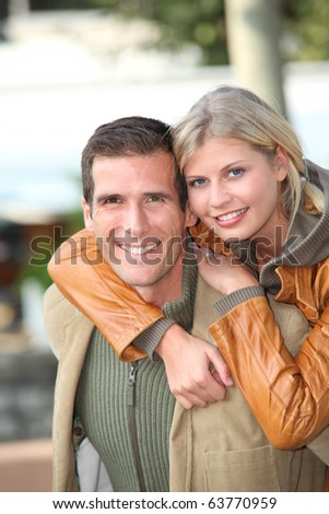 First date in autumn - stock photo