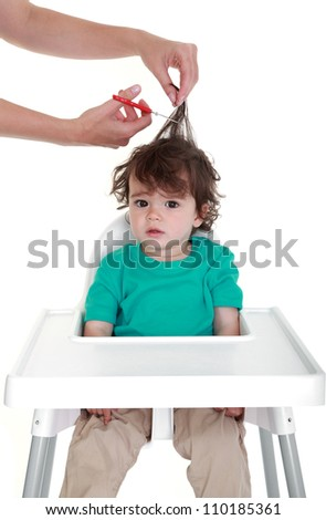 first haircut - stock photo