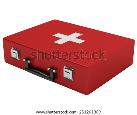 First Medical Kit. Isolated on White Background.