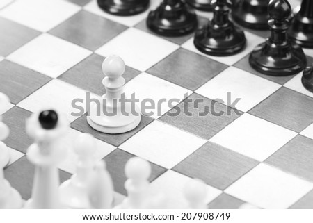 First move - stock photo