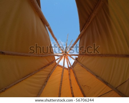 First Nation  Wigwam - stock photo