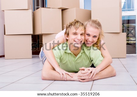 first new home - stock photo