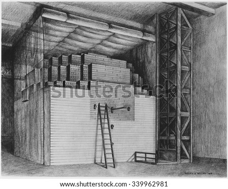 First nuclear reactor at the University of Chicago achieved the first self-sustaining chain reaction. December 2, 1942. Chicago Pile-1 CP-1 was built under the direction of physicist Enrico Fermi