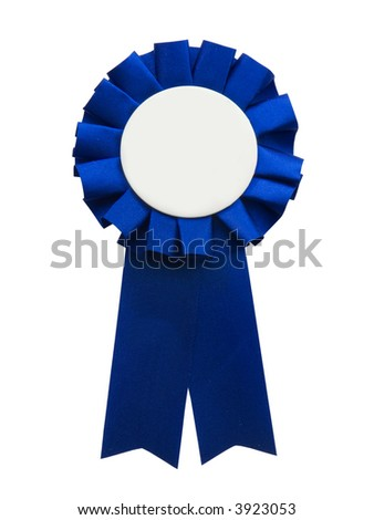 First place blue ribbon - stock photo