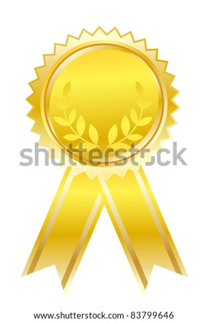 First place. Raster version. - stock photo