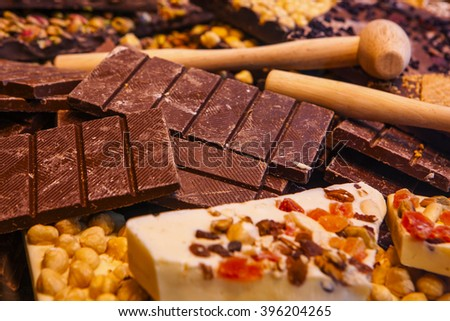 First quality of belgium chocolate. - stock photo
