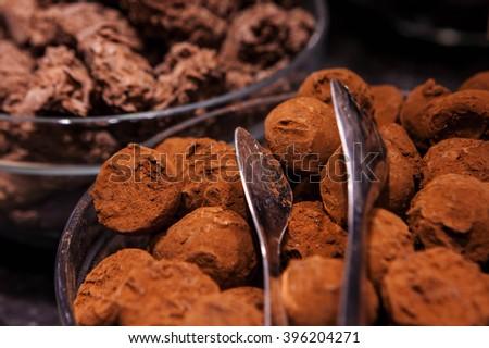 First quality of belgium chocolate. - stock photo