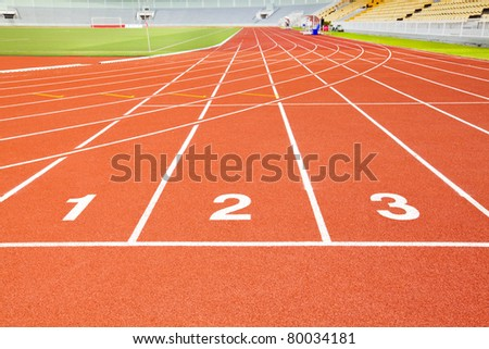 first second and third race track mean competition situation - stock photo