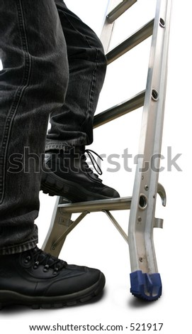 First step on the ladder. Includes path. - stock photo