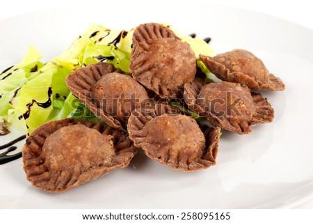 first tasty dish - stock photo