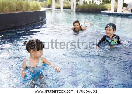 first time of the girl in the pool
